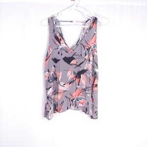 Nordstrom Lush Abstract Floral Swing Tank Top L